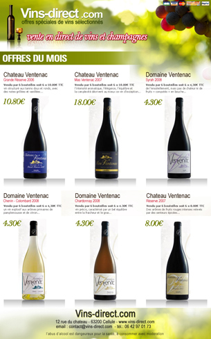newsletter VINS DIRECT