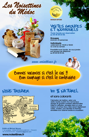 newsletter NOISETTINES DU MEDOC